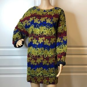Zara W&B Collection Vibrant Floral Dress Size XL